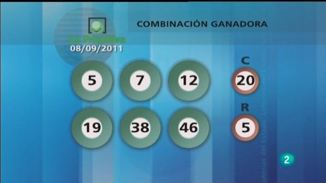 Lotería diaria - 08/09/11