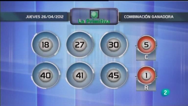 Lotería diaria - 26/04/12