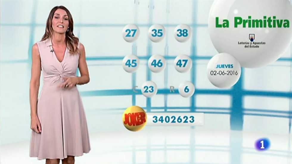 Lotería Nacional + La Primitiva + Bonoloto - 02/06/16