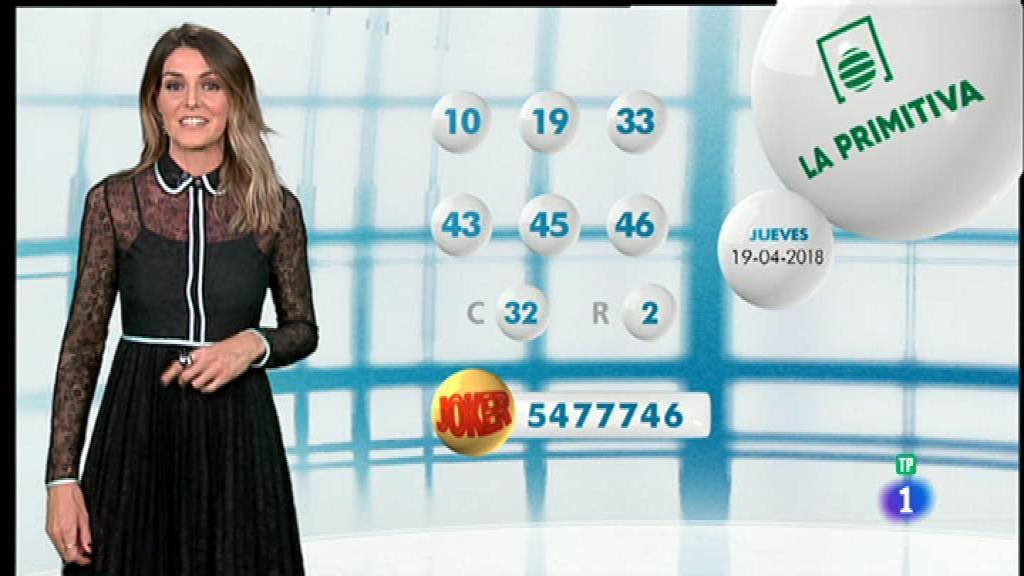 Lotería Nacional + La Primitiva + Bonoloto - 19/04/18