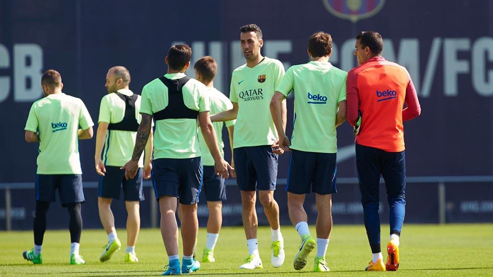 Luis Enrique ensaya sus opciones de remontada ante la Juventus