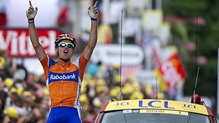 Luis León Sánchez gana la primera etapa de los Pirineos
