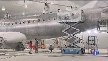 L'únic hangar d'Espanya per pintar avions