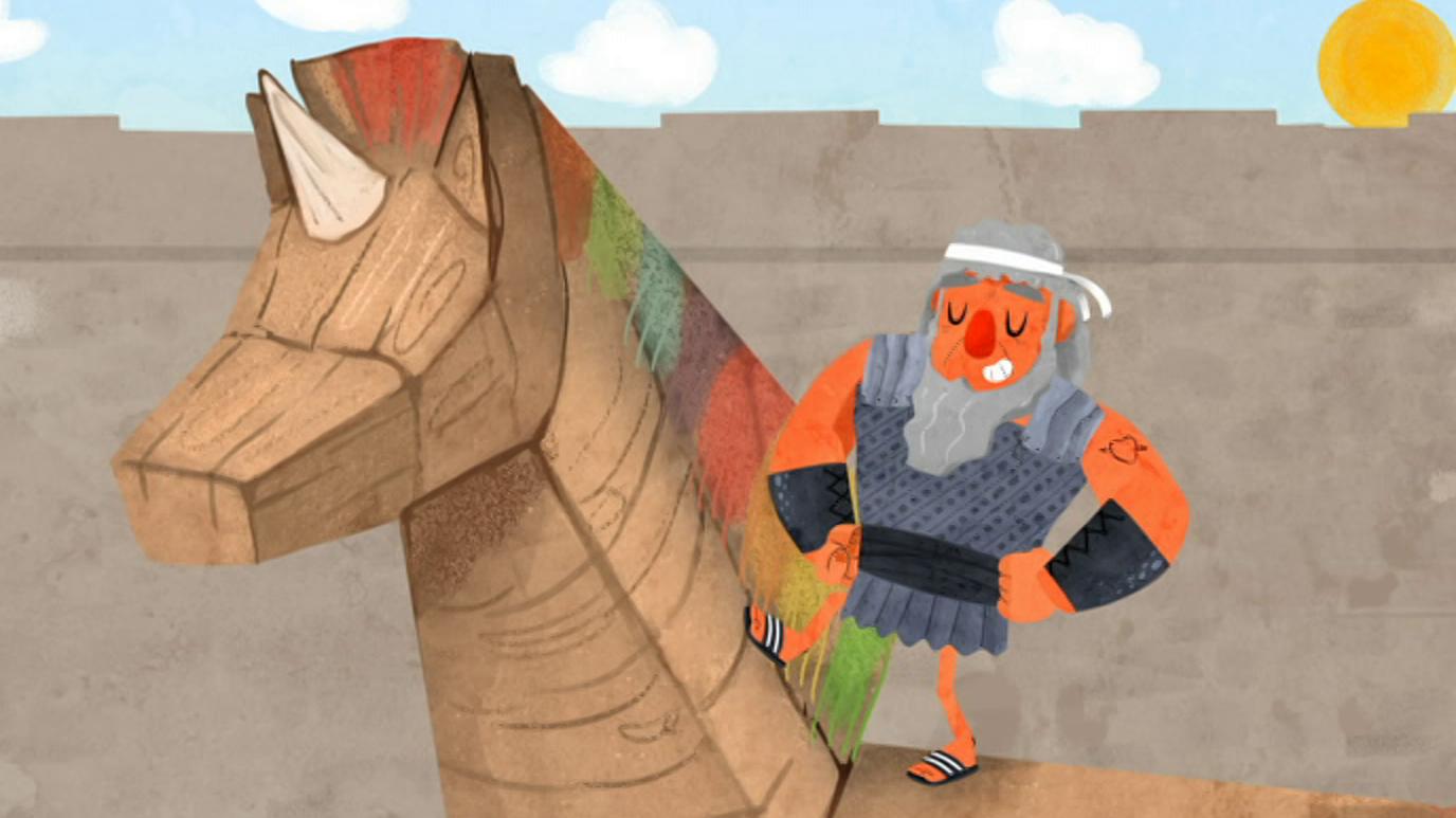 Lunnis de leyenda - El caballo de Troya