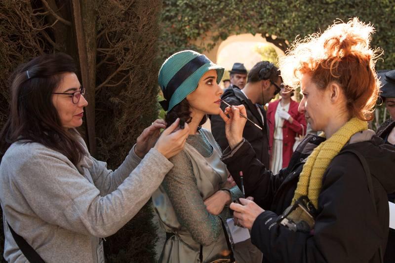 Macarena García en el rodaje de 'La otra mirada'