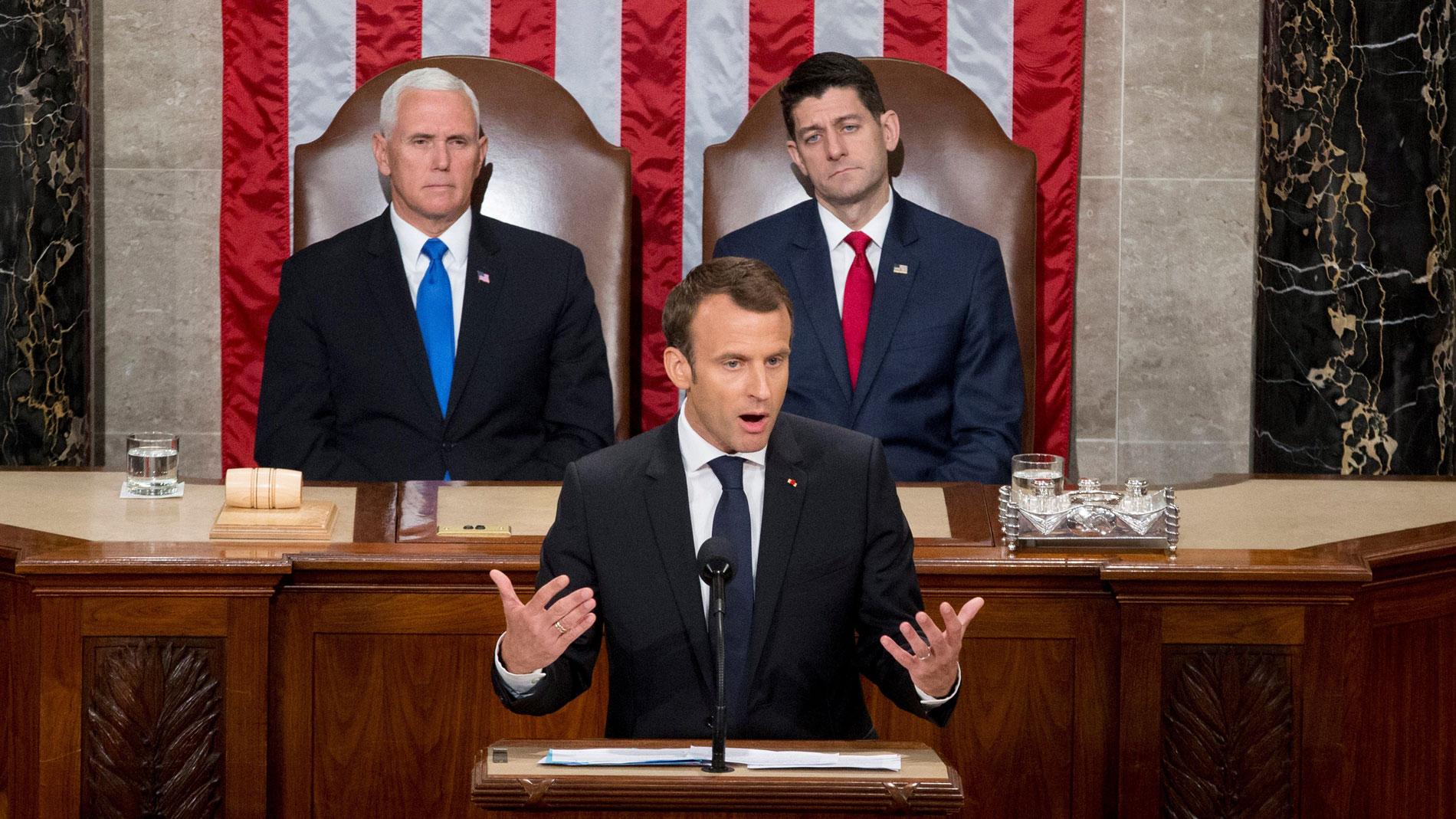 Macron marca diferencias con Trump en su discurso ante el Congreso de EE.UU.