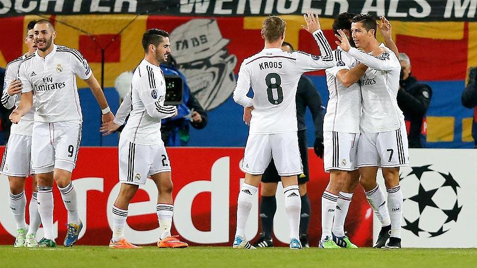 El Madrid se impone al Basilea en un duelo poco brillante
