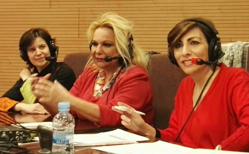 Mamen Asencio con Celia Sánchez y Belén Valenzuela.
