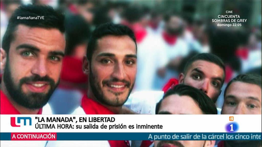 'La manada' en libertad bajo fianza de 6000 euros