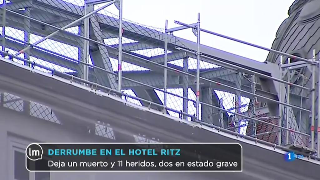 El hotel Ritz continúa evaluando los daños tras el derrumbe
