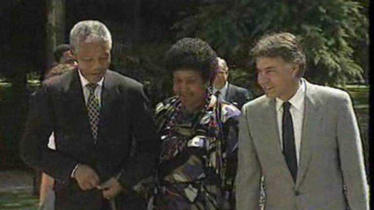 Mandela visitó España por primera vez en 1991