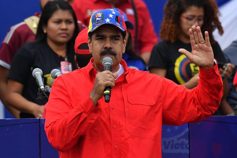 El presidente de Venezuela, Nicolás Maduro, pronuncia un discurso en Caracas durante la celebración del 20 aniversario de la llegada al poder de Hugo Chávez