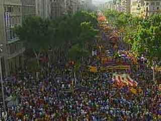 """Manifestación en Barcelona """"Somos una nación, nosotros decidimos"""""""