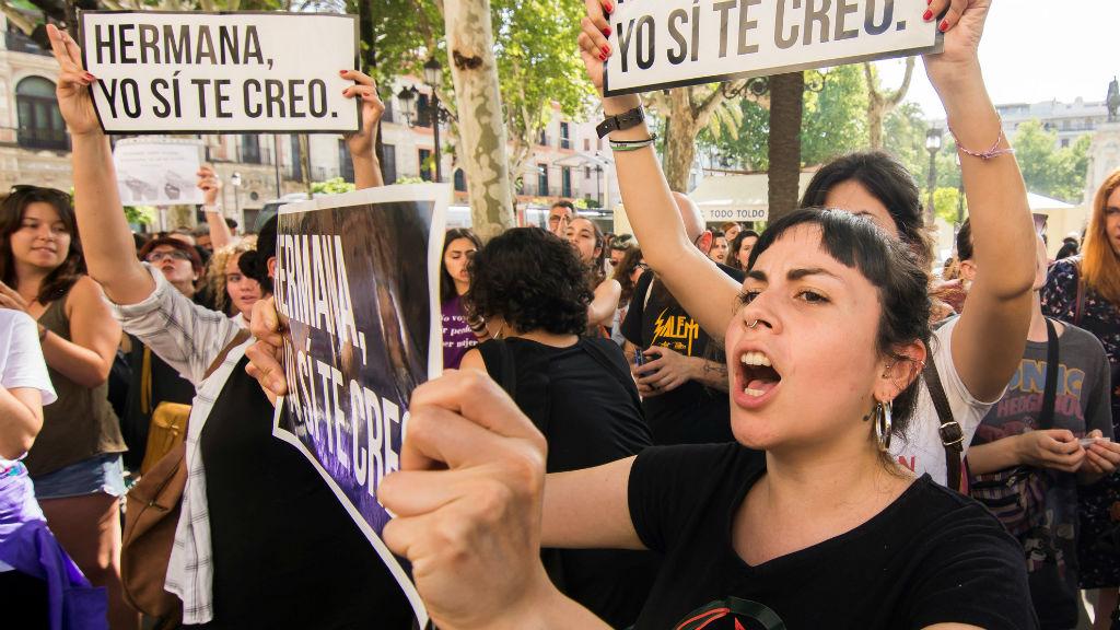 Manifestación contra la condena a La Manada