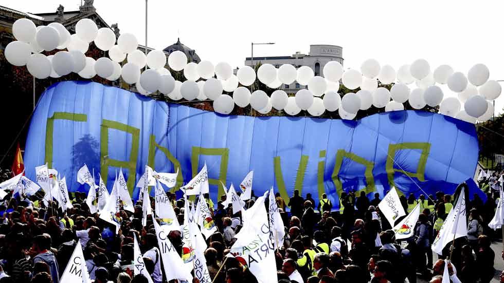 Manifestación en Madrid contra el aborto