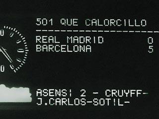 'Manita' del Barça en el Bernabéu (1974)
