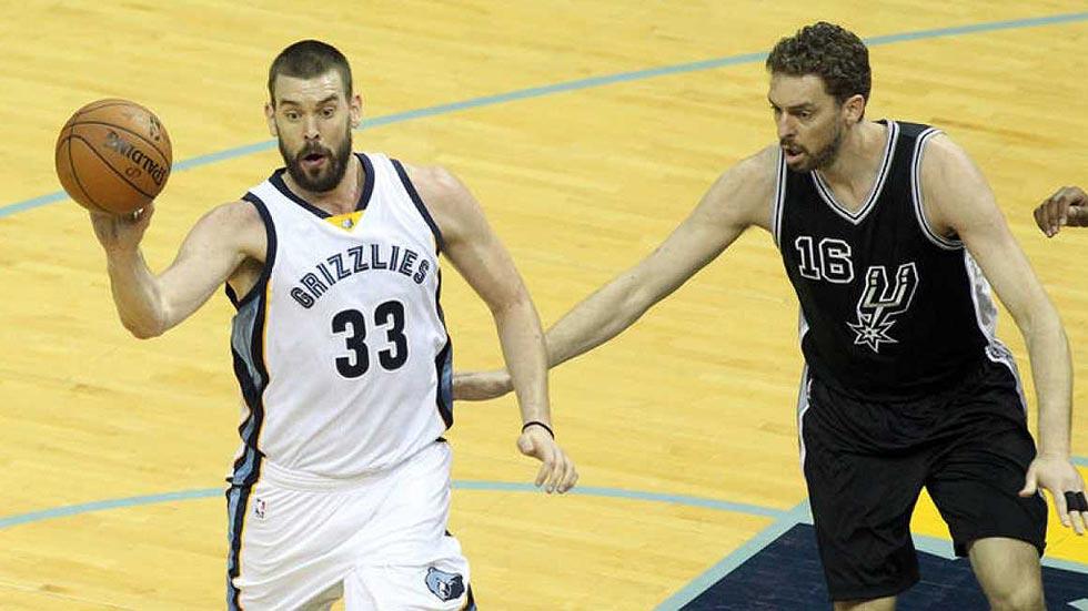 Marc Gasol lidera a los Grizzlies para recortar las distancias con los Spurs de Pau