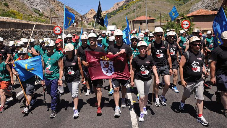 Los mineros de Asturias y Castilla y León se encuentra en una 'marcha del carbón'