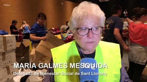 """María Galmes, delegada de Bienestar Social en Sant Llorenç: """"Necesitamos ropa y herramientas"""""""