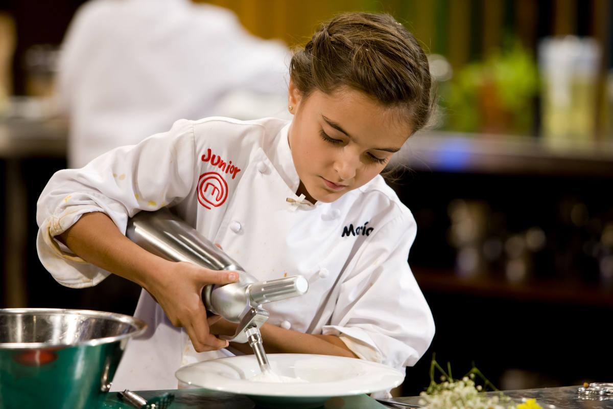 María, preparando uno de los platos