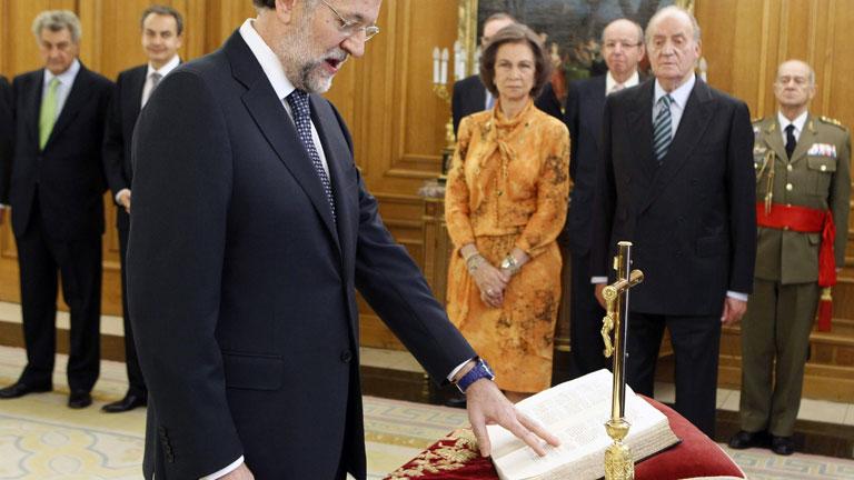 Mariano Rajoy jura el cargo como presidente del Gobierno