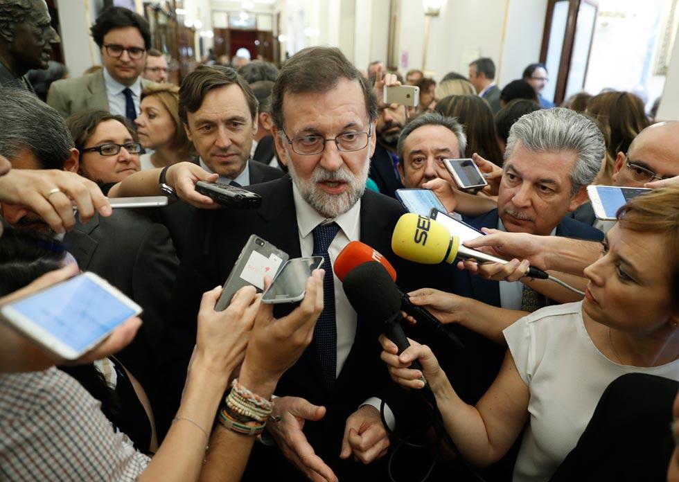 Mariano Rajoy muestra su satisfacción por el rechazo de la moción de censura de Podemos