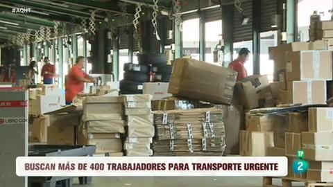 Más de 400 empleos en una empresa de transporte urgente