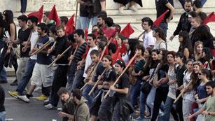 Masivo seguimiento de la huelga general en Grecia