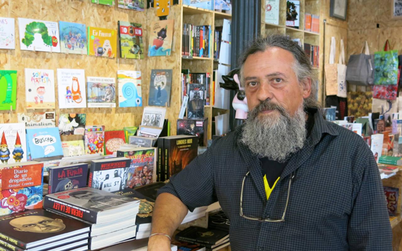 Max en la librería Ciudadano Grant, de Madrid