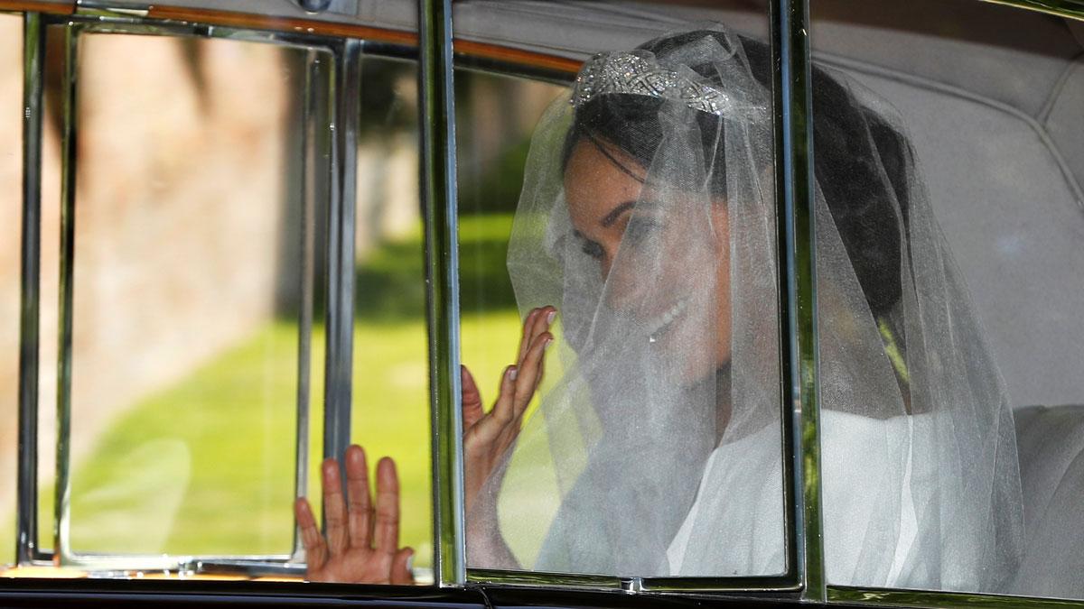 Meghan Markle se dirige a la iglesia de San Jorge para su boda con el príncipe Enrique