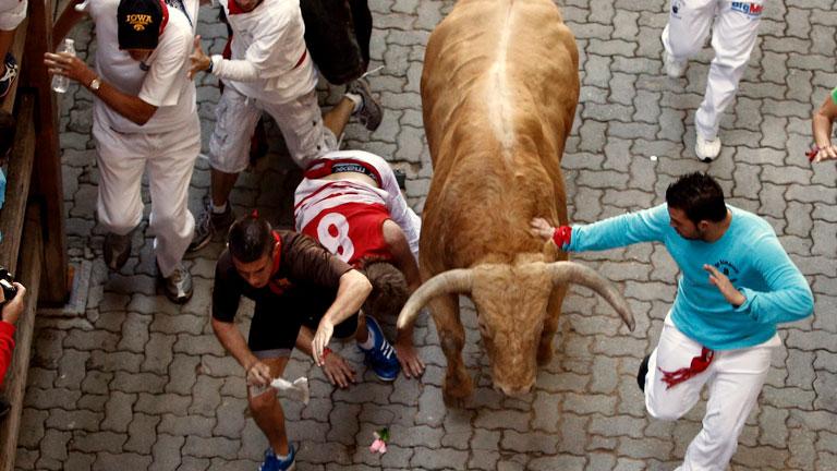 Los mejores momentos del séptimo encierro de San Fermín 2012