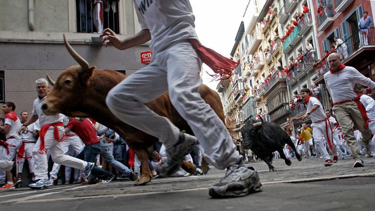 Los mejores momentos del último encierro de San Fermín 2012