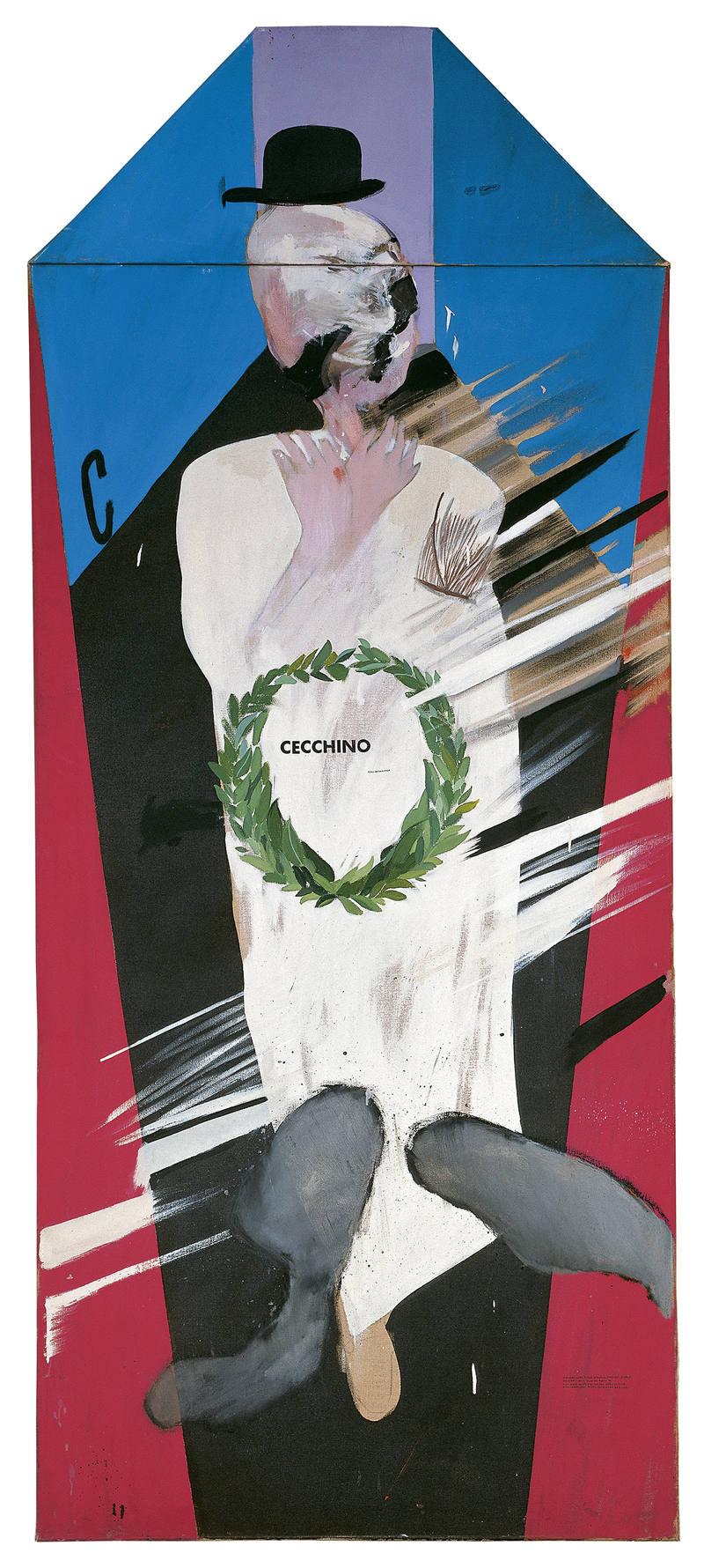 'En Memoria de Cecchino Bracci', David Hockney. Museo Thyssen-Bornemisza.