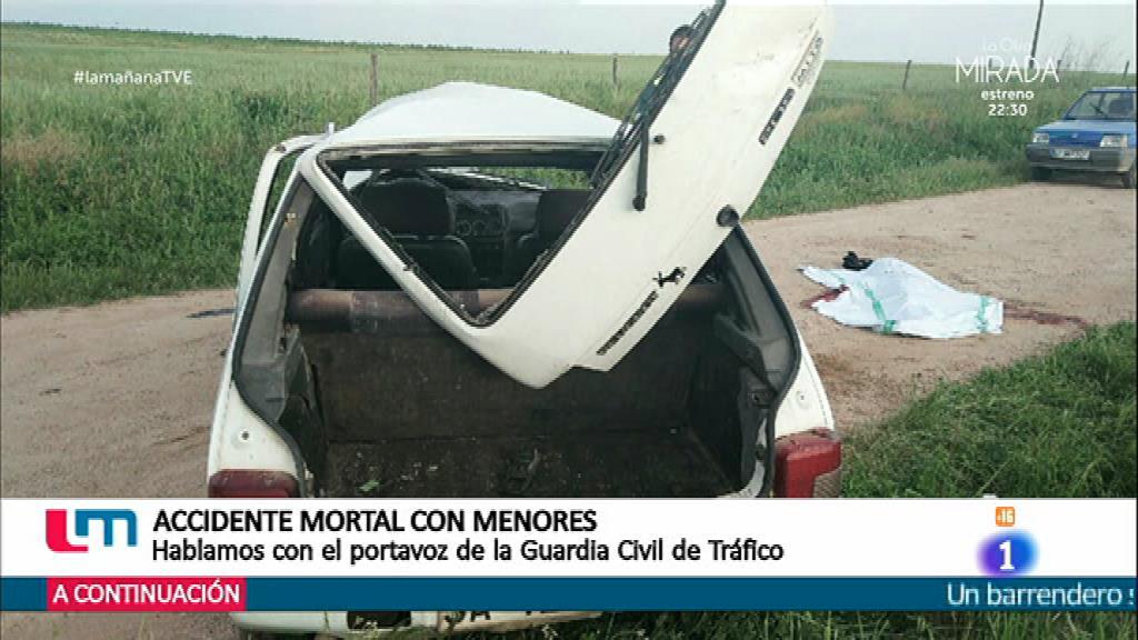 Un menor muerto en un accidente de coche