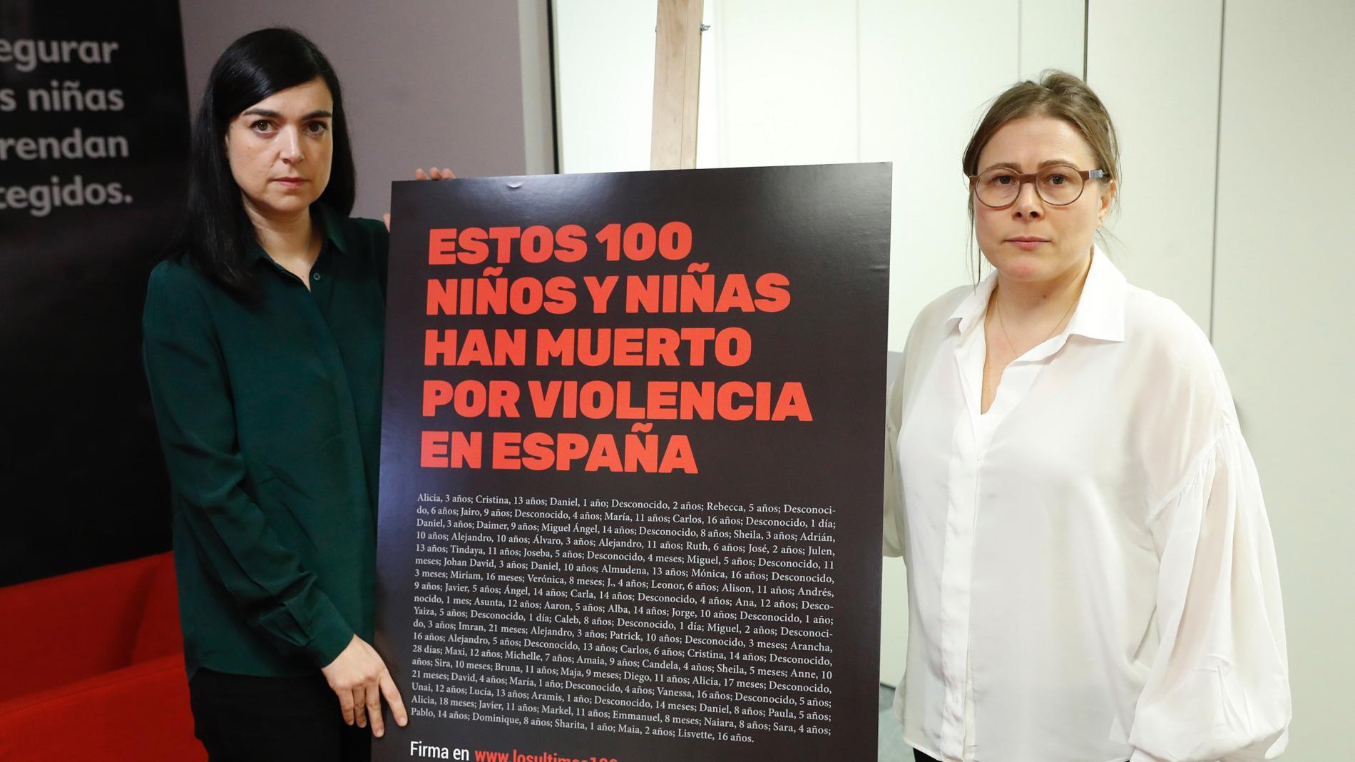 Al menos 100 niños han muerto en España en los últimos cinco años por algún tipo de violencia