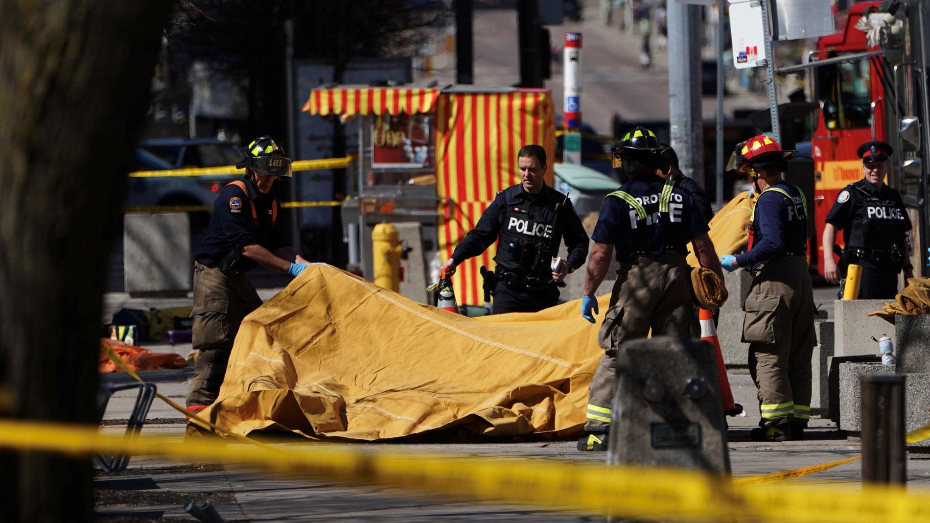 Al menos diez muertos y 15 heridos en un atropello múltiple en Toronto