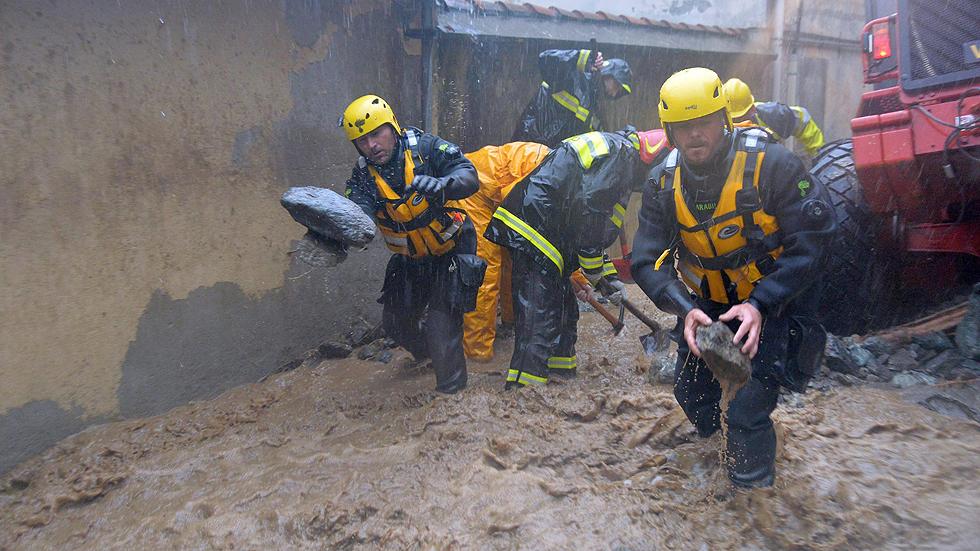 Al menos nueve muertos en inundaciones en Francia e Italia