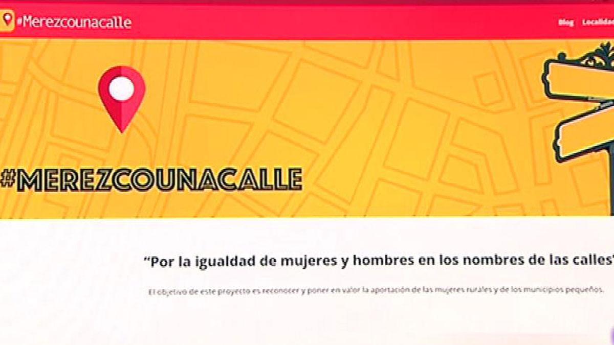 """""""Merezco una calle. com"""", un proyecto para terminar con la desigualdad de género a la hora de poner nombre a las calles"""