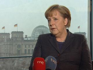 """Ver vídeo 'Merkel: """"Los salarios no suben con la inflación, sino cuando se ha ganado algo y hay beneficios""""'"""