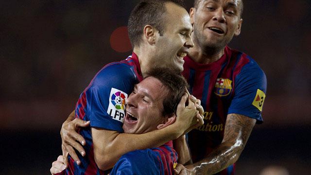 Messi marca el segundo (2-1)