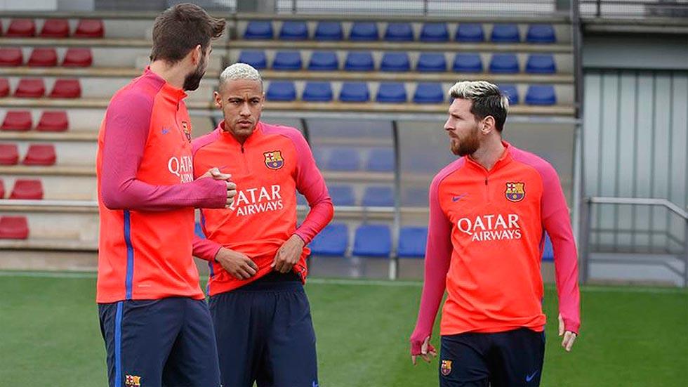 Messi vuelve a entrenar con el grupo