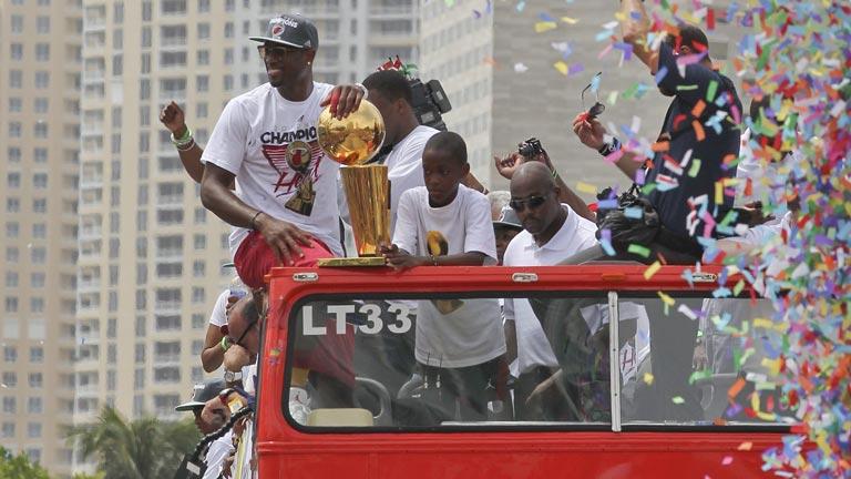 Miami celebra el título de la NBA