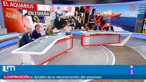 Los migrantes del 'Aquarius' desembarcan en España