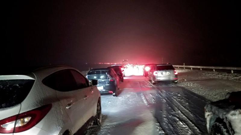 Miles de conductores estuvieron atrapados durante horas en la AP-6 por la nieve el pasado 6 de enero