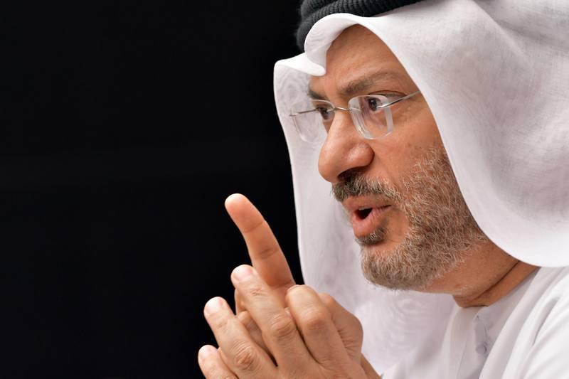 El ministro de Exteriores de Emiratos Árabes Unidos, Anwar Gargash, en una imagen de archivo