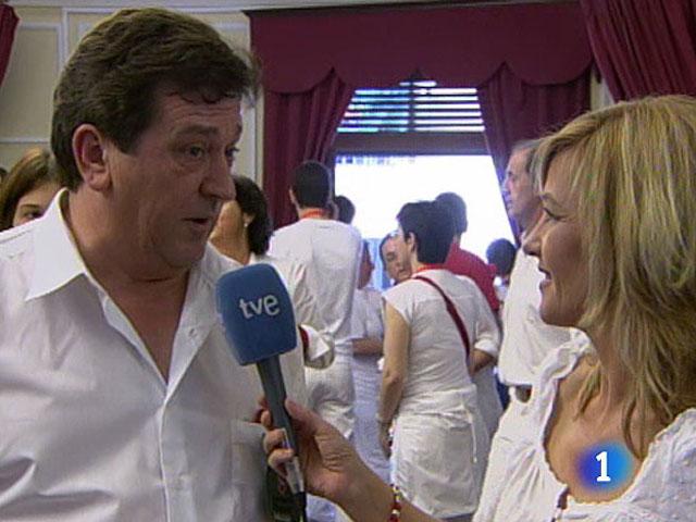 Entrevista a Mari Ganuza, habla para TVE antes de lanzar el chupinazo