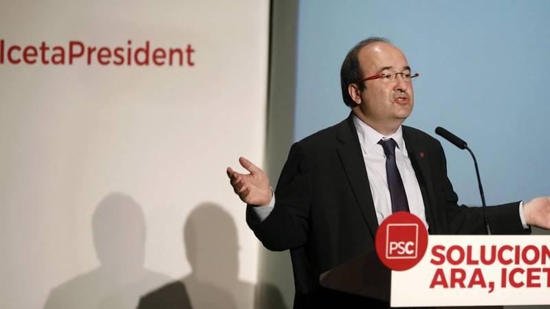 Miquel Iceta, candidato del PSC en las elecciones catalanas.