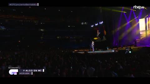 OT Bernabéu - Miriam canta 'Hay algo en mí'