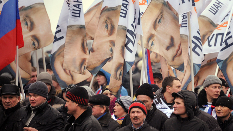 Multitudinario mitin  de Vladimir Putin en Moscu ante 130.000 personas
