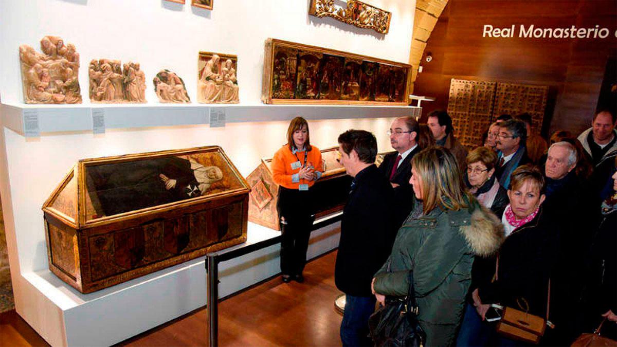 El monasterio de Sijena abre sus puertas al público tras recuperar los bienes que se encontraban en Lleida y Barcelona